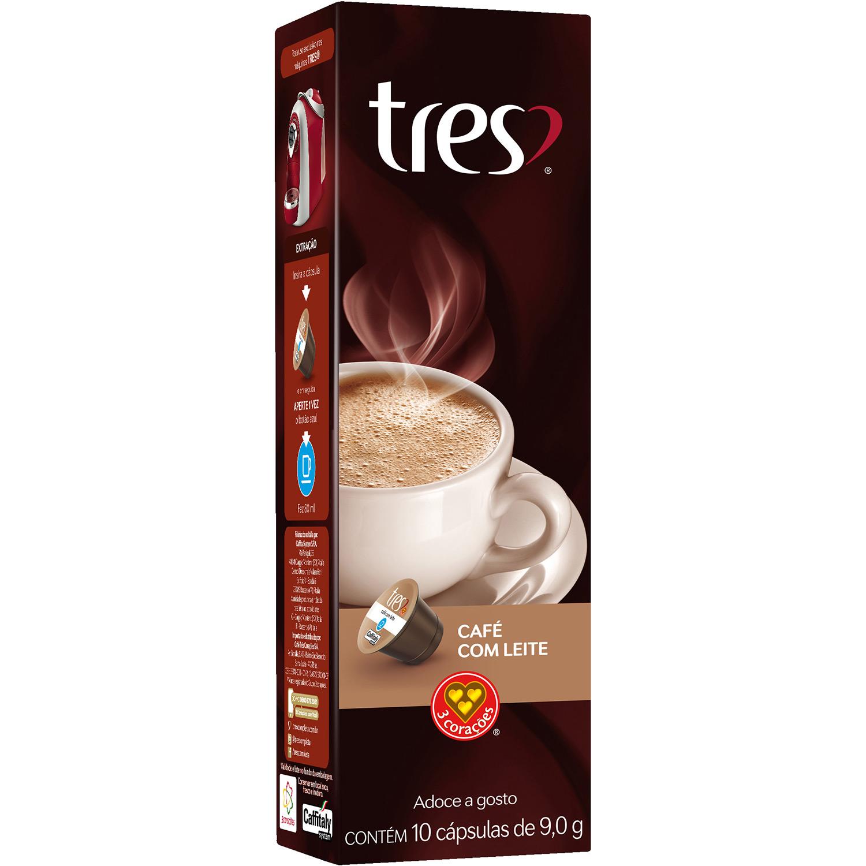 Cápsulas de Café com Leite 3 Corações - 10 un