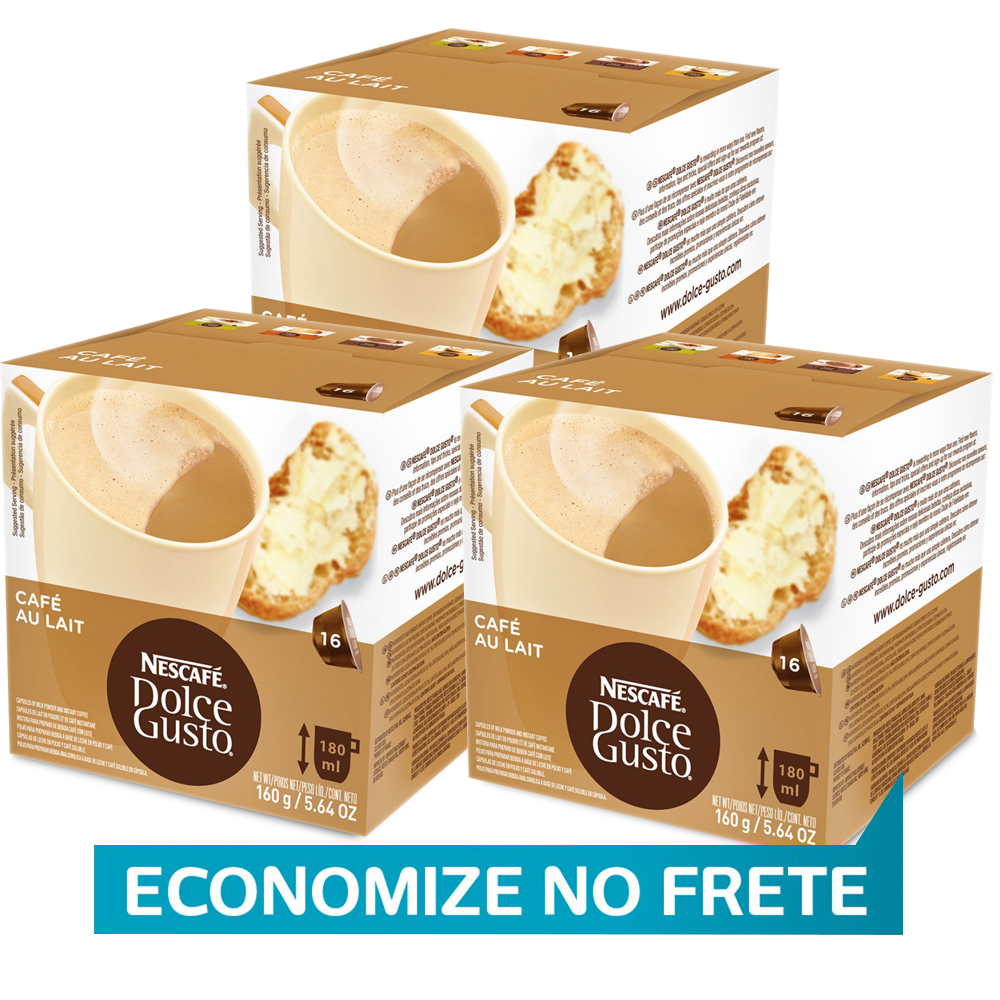 Kit 48 Cápsulas Nescafé Dolce Gusto Au Lait - Nestlé