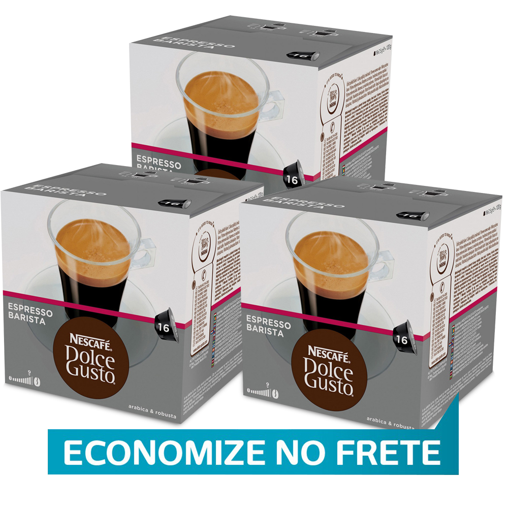 Kit 48 Cápsulas Nescafé Dolce Gusto Espresso Barista Nestlé