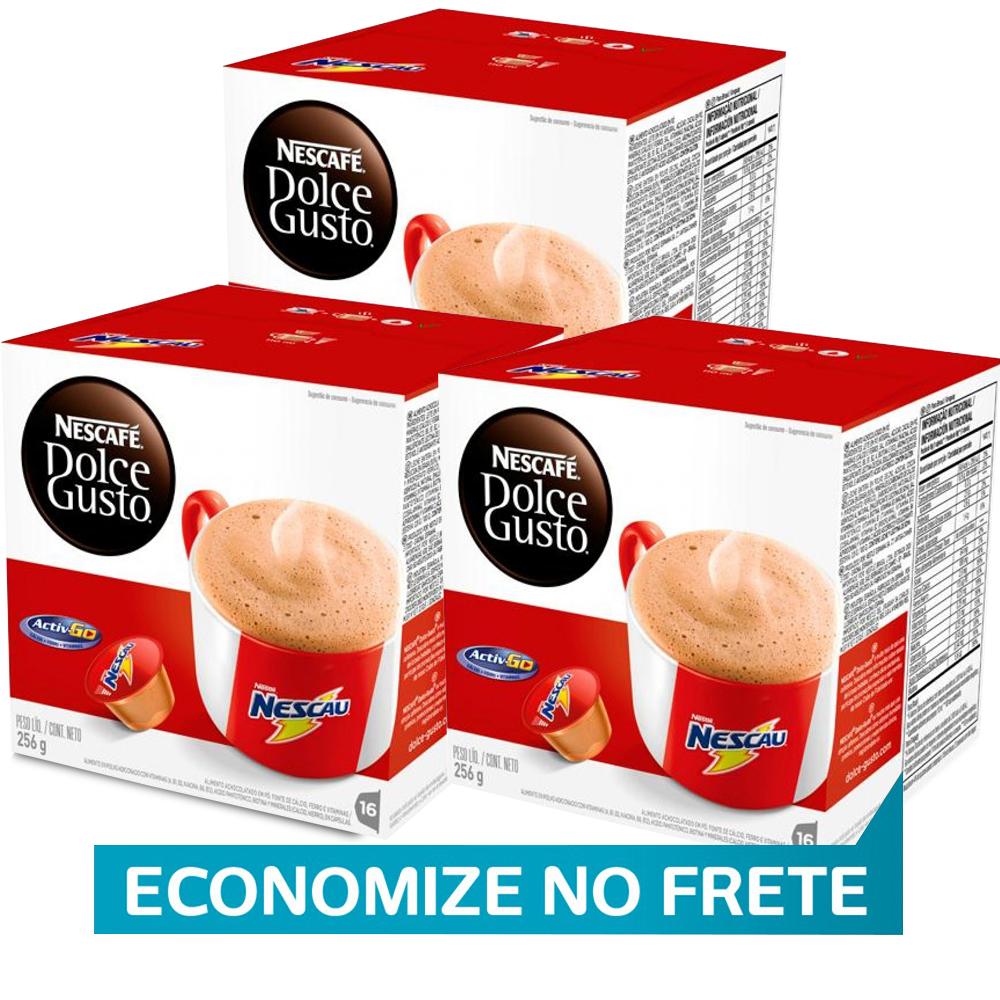 Kit 48 Cápsulas Nescafé Dolce Gusto Nescau- Nestlé