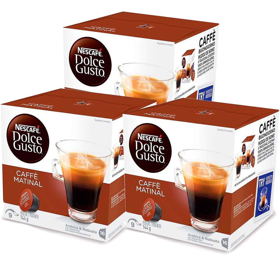 Kit 48 Cápsulas Nescafé Dolce Gusto  Caffè Matinal - Nestlé