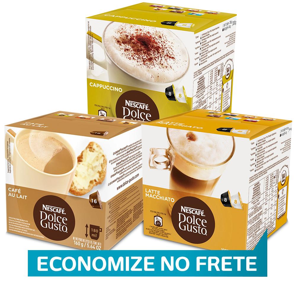 Kit 48 Cápsulas Nescafé Dolce Gusto Cappuccinos e Latte - Nestlé
