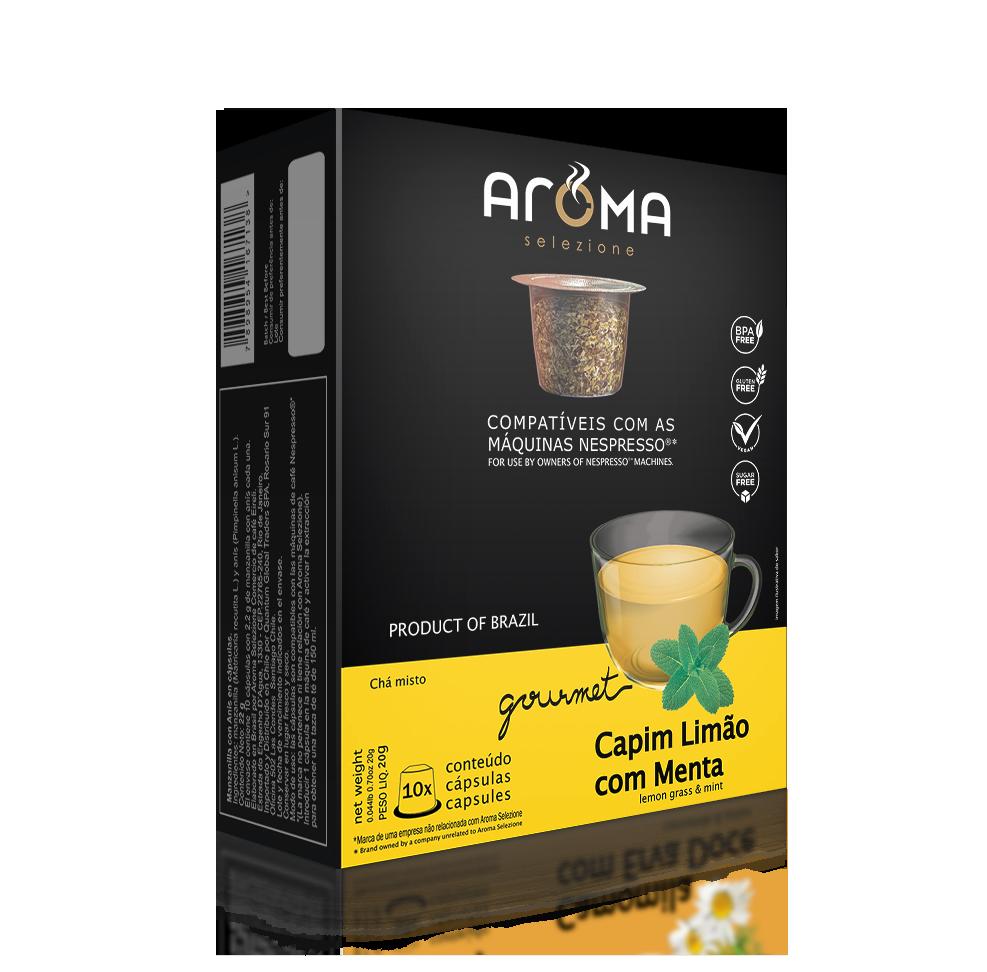 Cápsulas de Chá Capim-Limão com Menta Aroma - Compatíveis com...