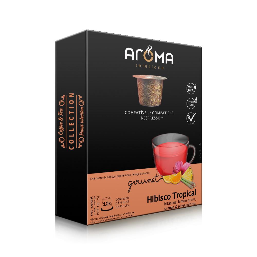 Cápsulas de Chá Chá Tropical Aroma - Compatíveis com...