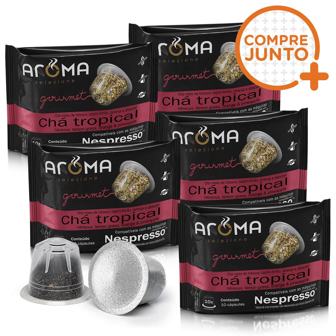 Kit Cápsulas de Chá Chá Tropical Aroma - Compatíveis com...