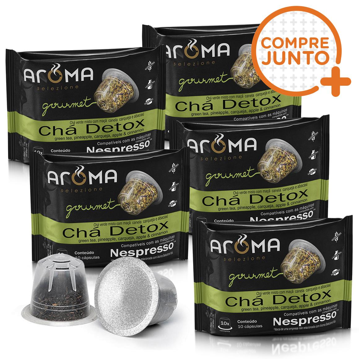 Kit Cápsulas de CháDetox Aroma - Compatíveis com...