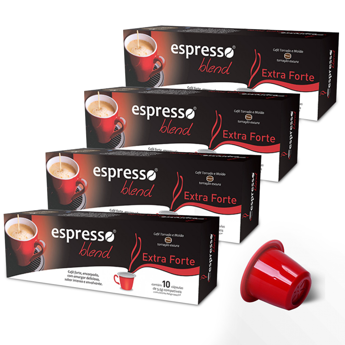 Kit Cápsulas de Café Espresso Blend Extraforte - Compatíveis...