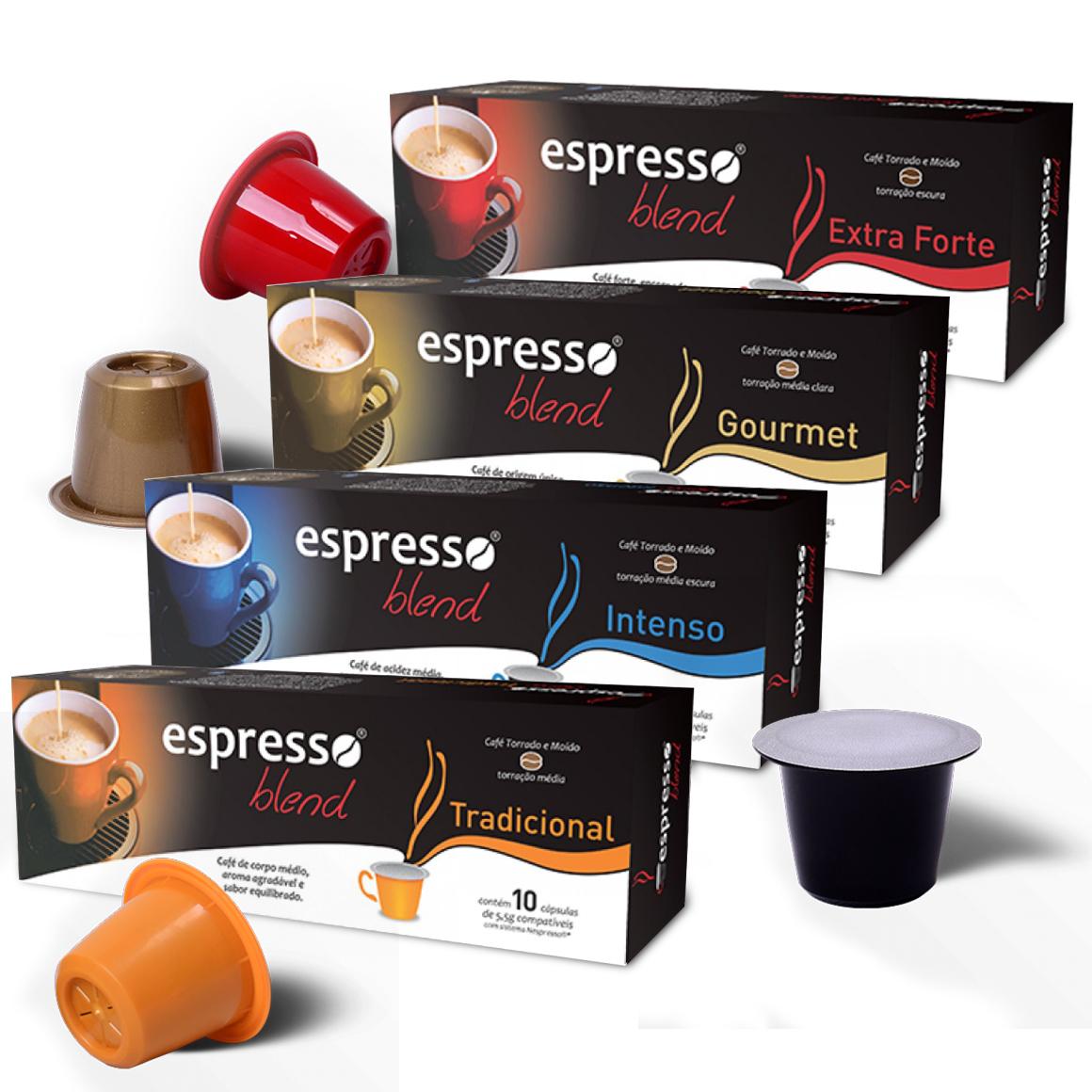 Kit Cápsulas de Café Espresso Blend - Compatíveis com...