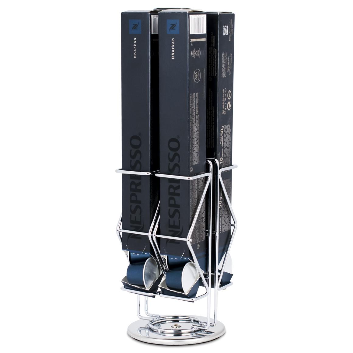 Porta Cápsulas - Compatível com Cápsulas Nespresso® -Silver -...