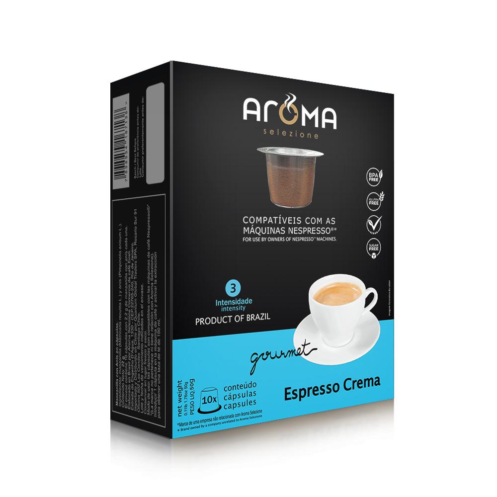 Cápsulas de Café Espresso Crema Aroma - Compatíveis com...