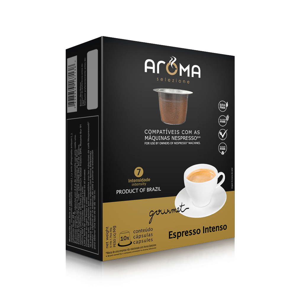 Cápsulas de Café Espresso Intenso Aroma - Compatíveis com...