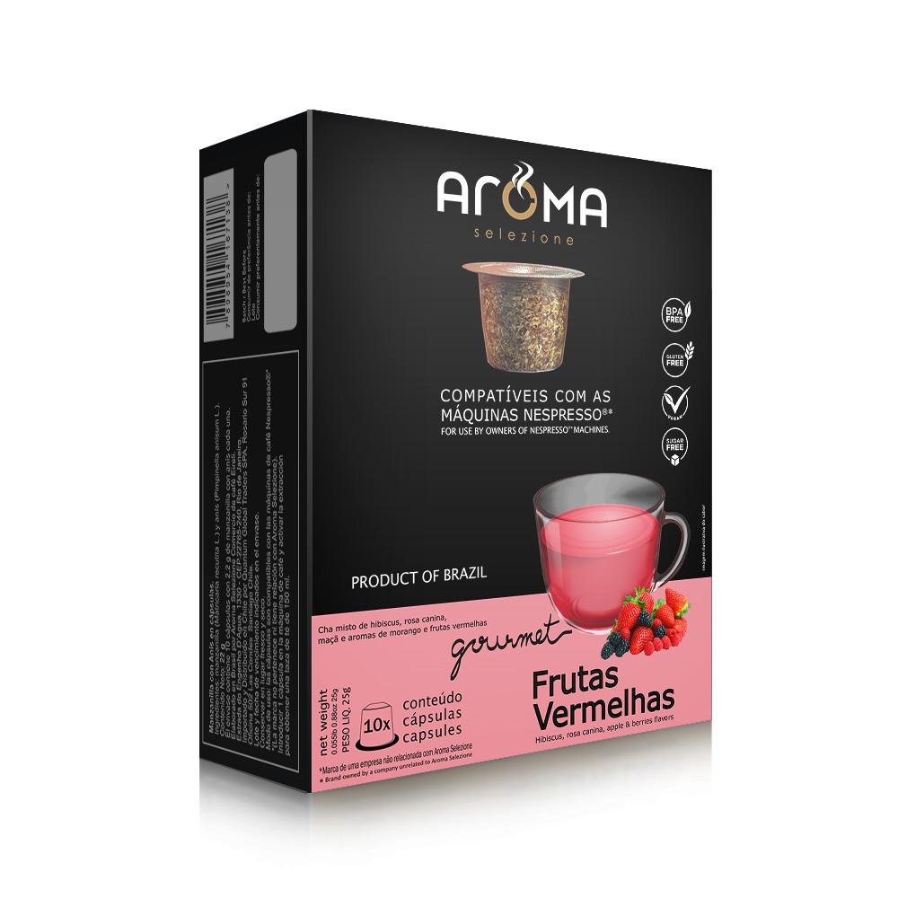 Cápsulas de Chá Frutas Vermelhas Aroma - Compatíveis com...