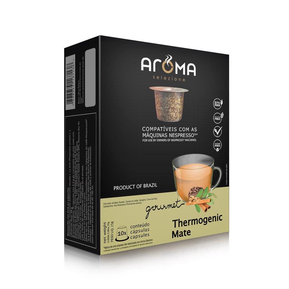 Cápsulas de Chá Thermogenic Mate Aroma - Compatíveis com...
