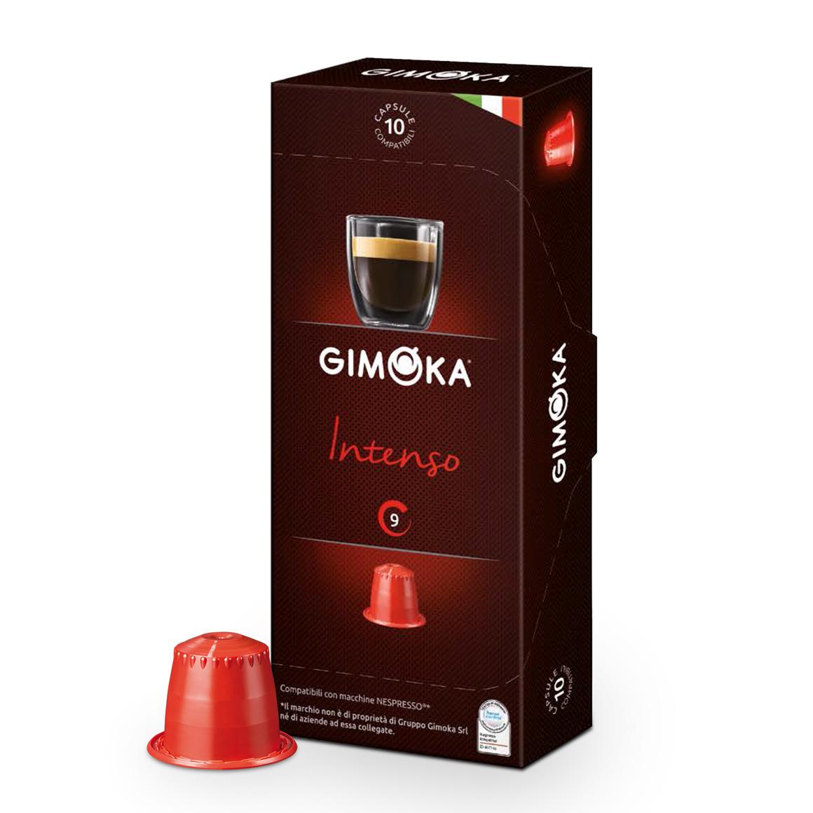 Cápsulas de Café Espresso Gimoka Intenso - Compatíveis com...