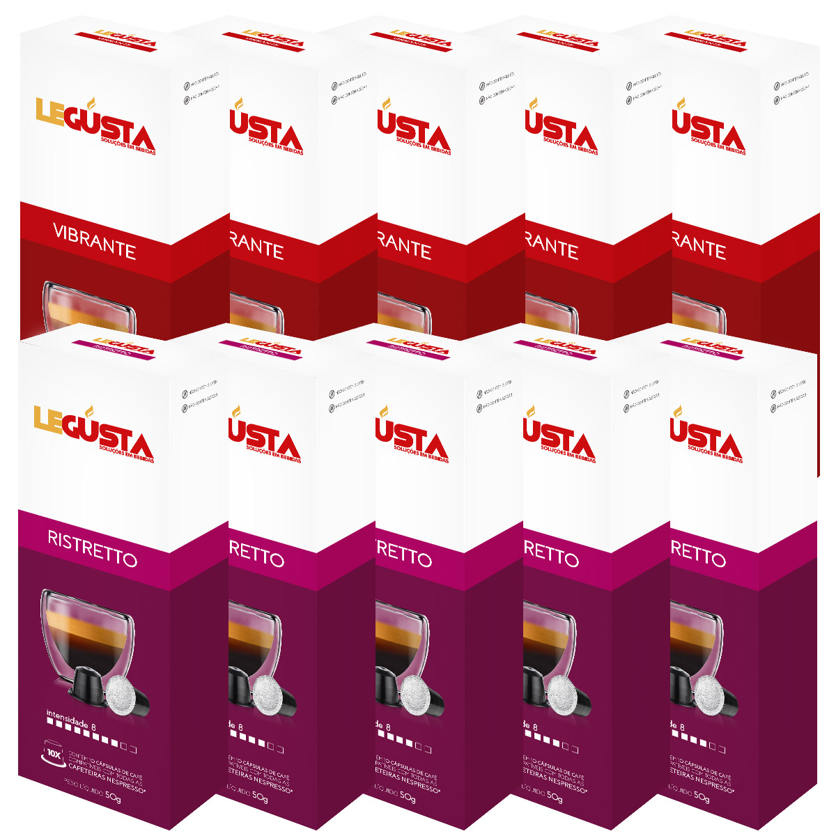 Kit Meu Legusta - Intenso - Compatíveis com Nespresso® - 100un.