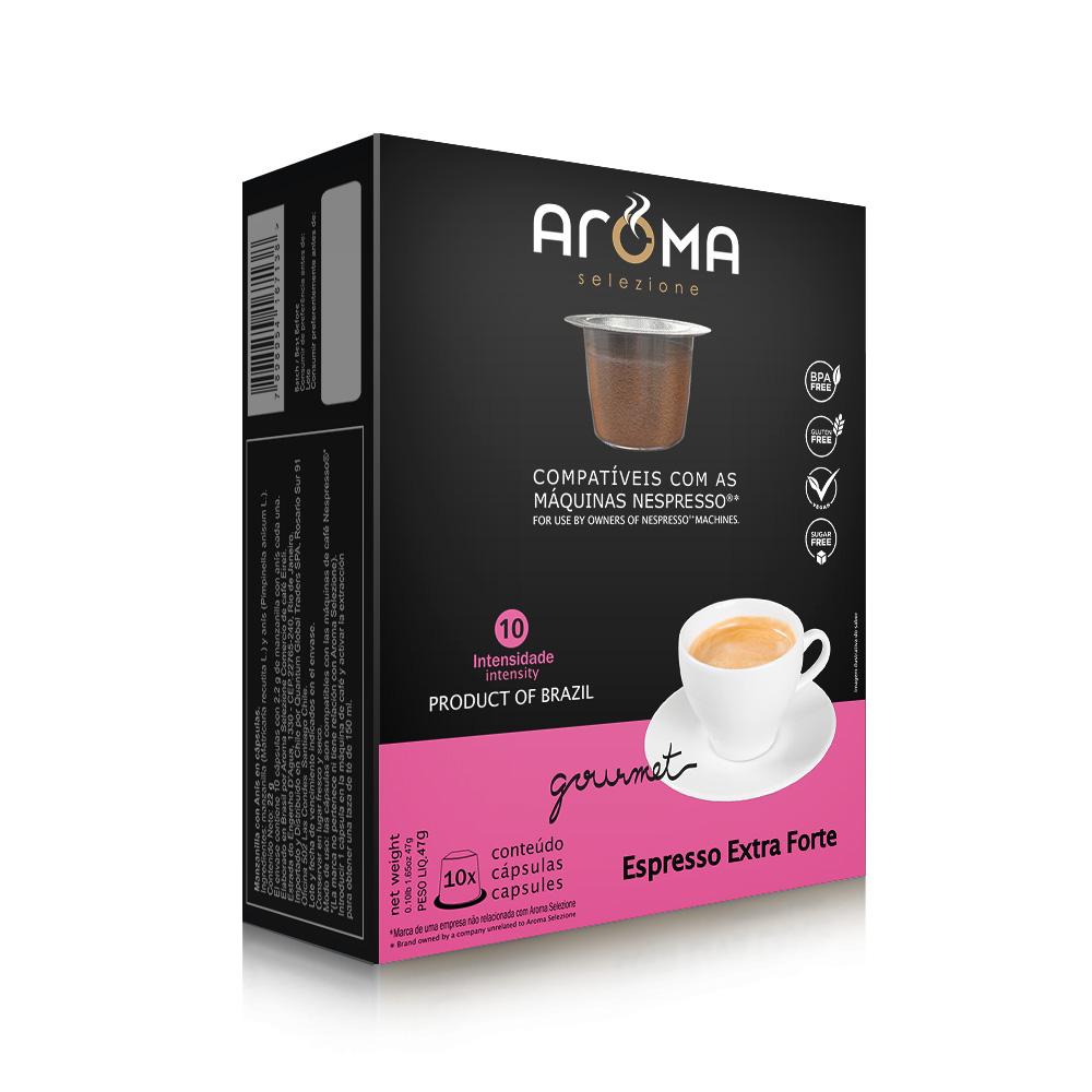 Cápsulas de Café Espresso Extra Forte Aroma - Compatíveis com...