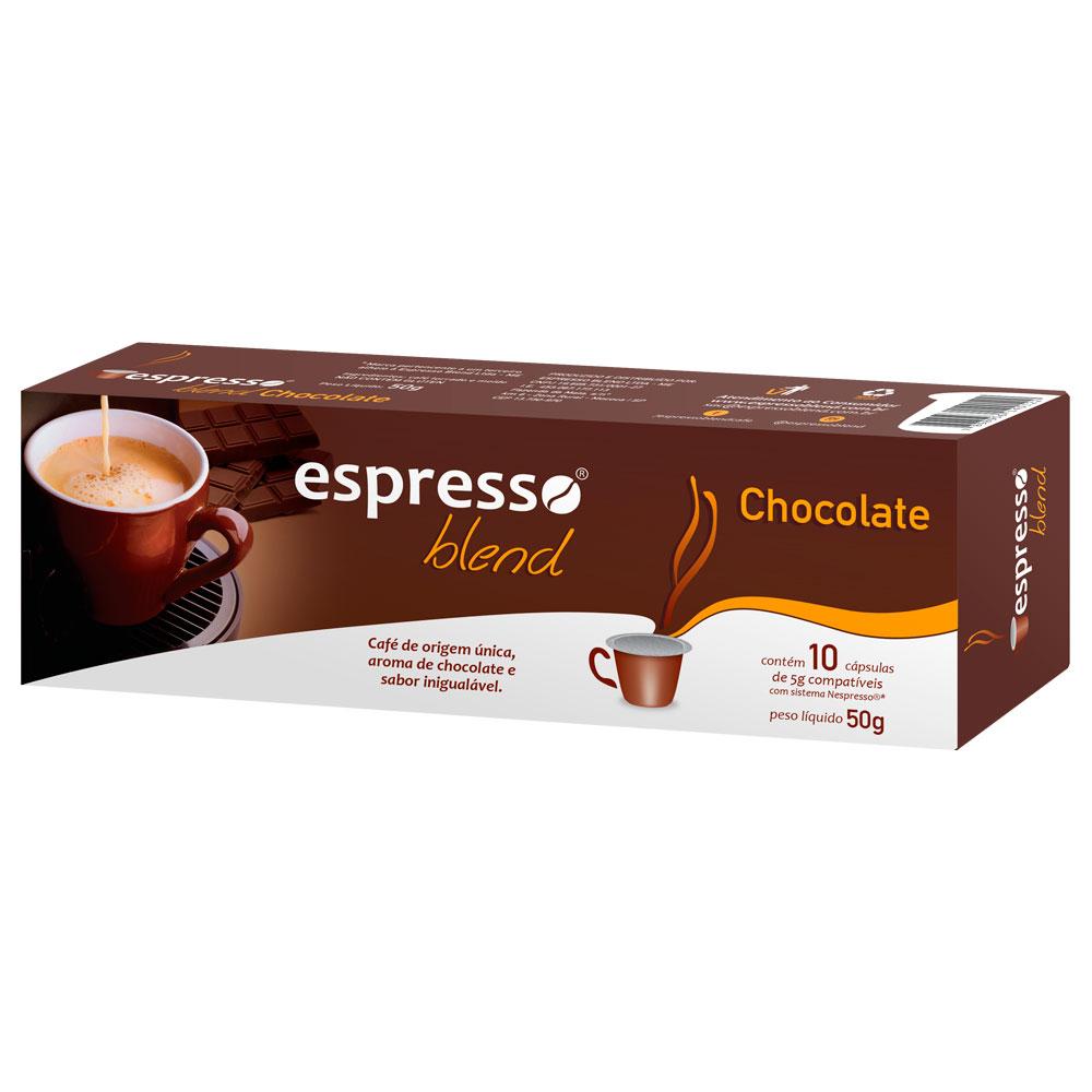 Cápsulas de Café Espresso Blend Chocolate - Compatíveis com...