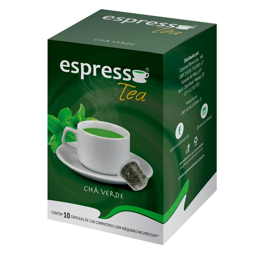 Cápsulas de Café Espresso Tea Chá Verde - Compatíveis com...