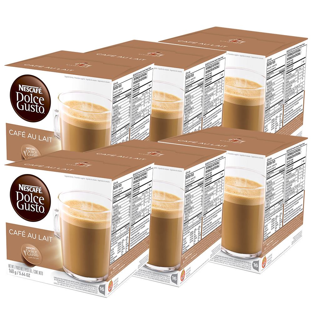 Kit 96 Cápsulas Nescafé Dolce Gusto Au Lait - Nestlé
