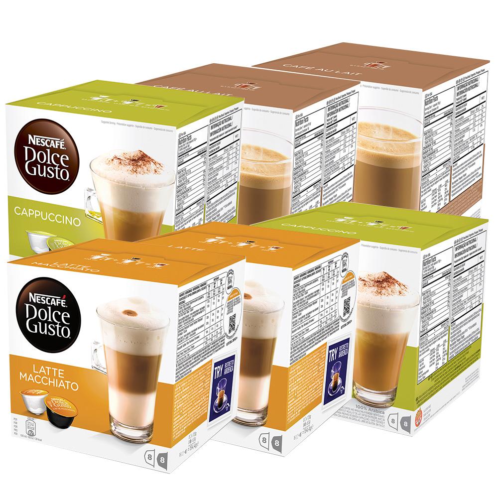 Kit 96 Cápsulas Nescafé Dolce Gusto Cappuccinos e Latte - Nestlé