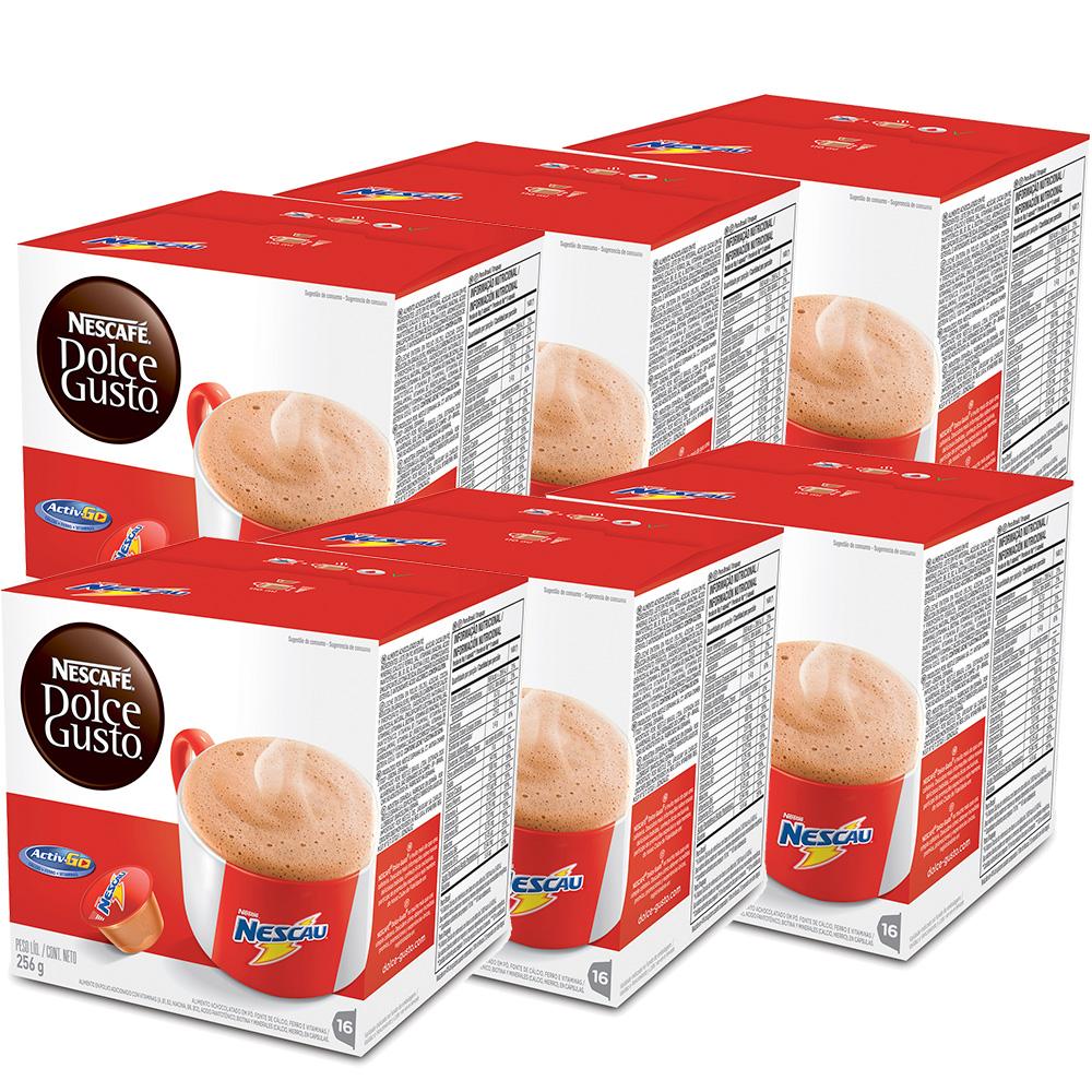Kit 96 Cápsulas Nescafé Dolce Gusto Nescau- Nestlé