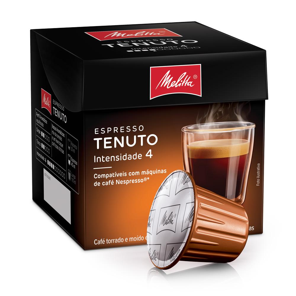 Cápsulas de Café Espresso Melitta Tenuto - Compatíveis com...