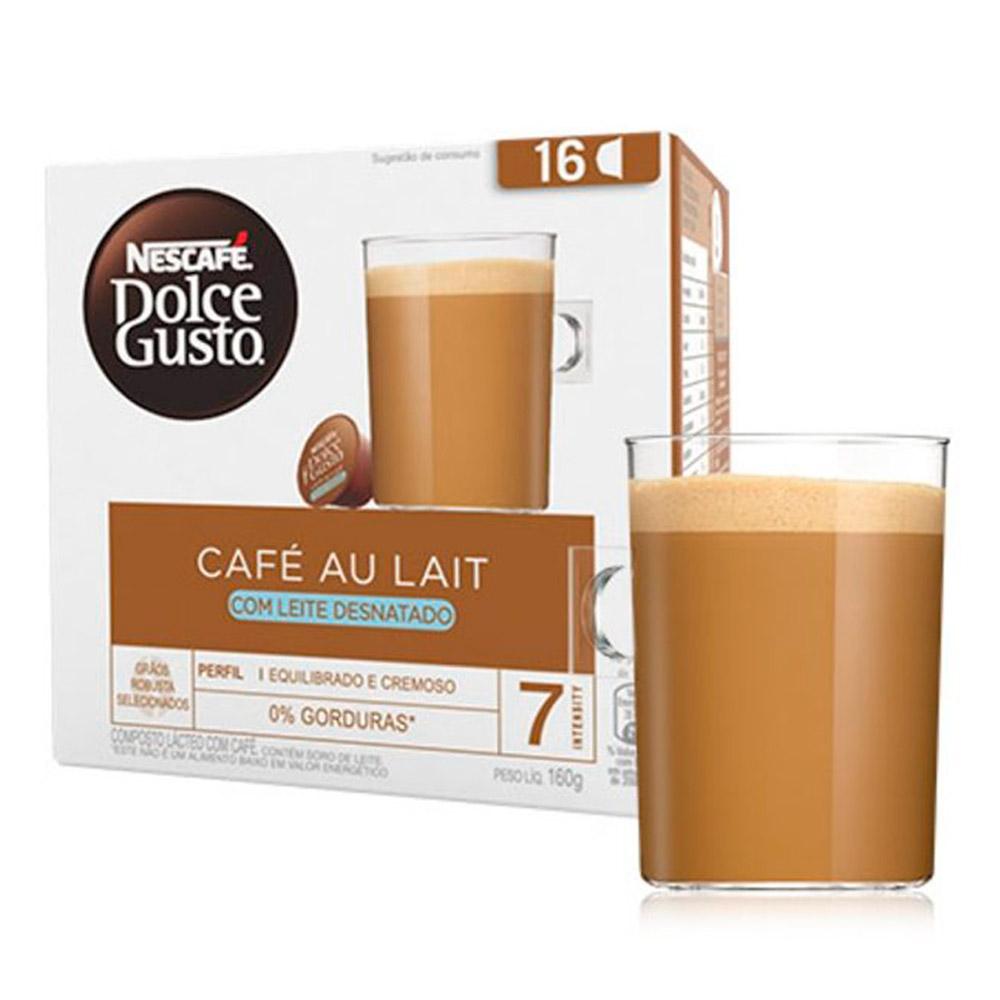 Cápsula Nescafé Dolce Gusto Au Lait Desnatado 16 Cápsulas - Nestlé