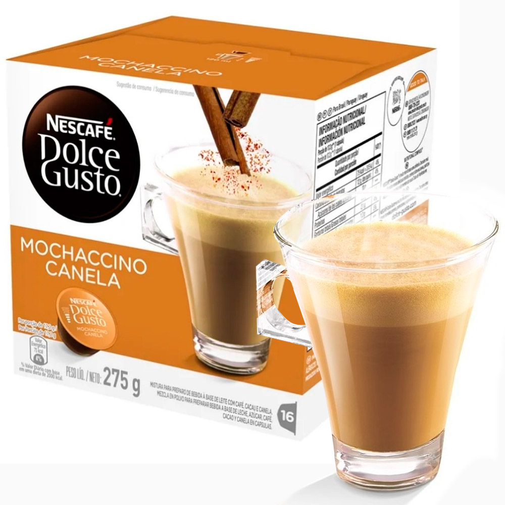 Cápsula Nescafé Dolce Gusto Mochaccino Canela 16 Cápsulas - Nestlé