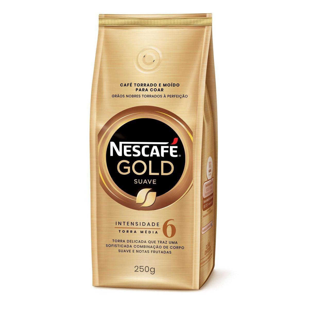 Café Torrado e Moído NESCAFÉ Gold Suave 250g