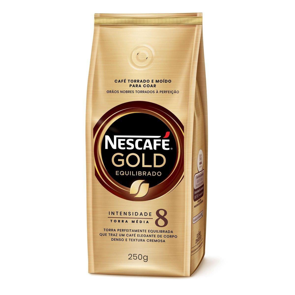 Café Torrado e Moído NESCAFÉ Gold Equilibrado 250g