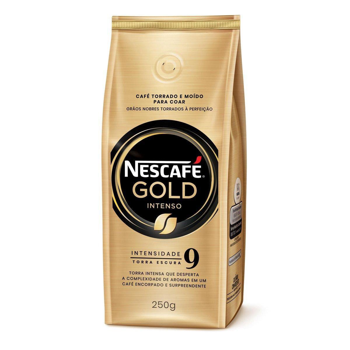 Café Torrado e Moído NESCAFÉ Gold Intenso 250g