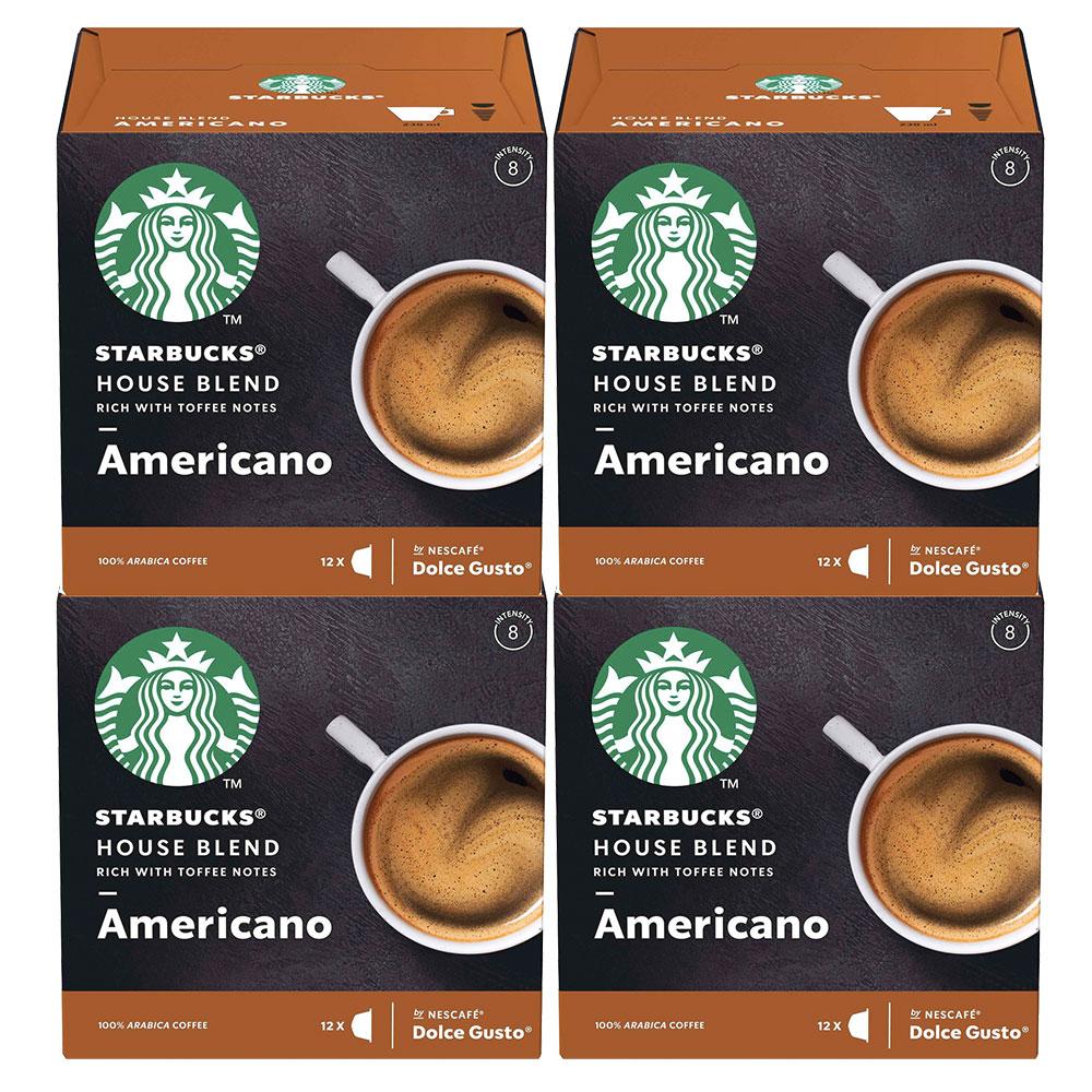 Kit 48 Cápsulas Nescafé Dolce Gusto Starbucks House Blend...