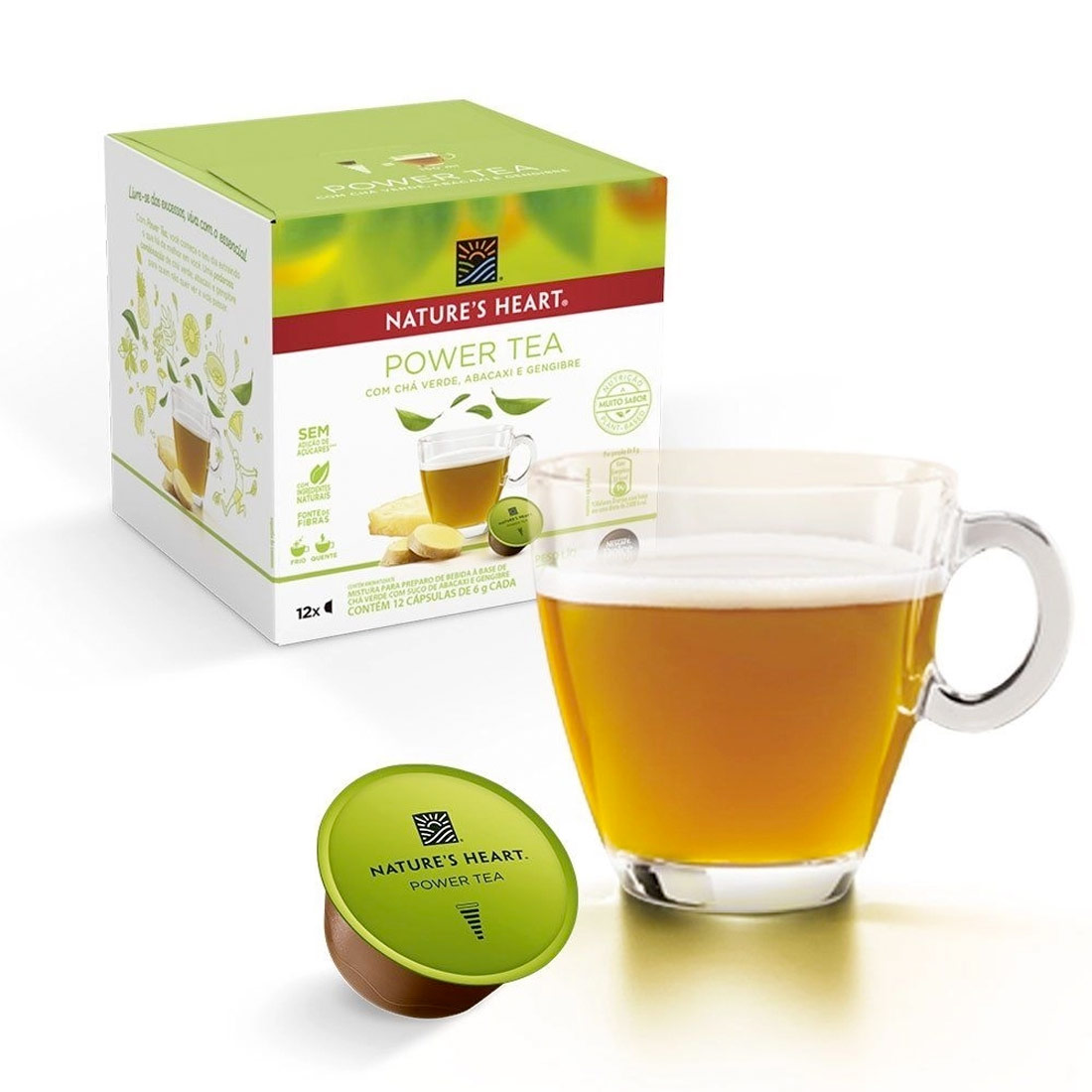 Cápsulas Dolce Gusto Nature's Heart Power Tea - 12 un.