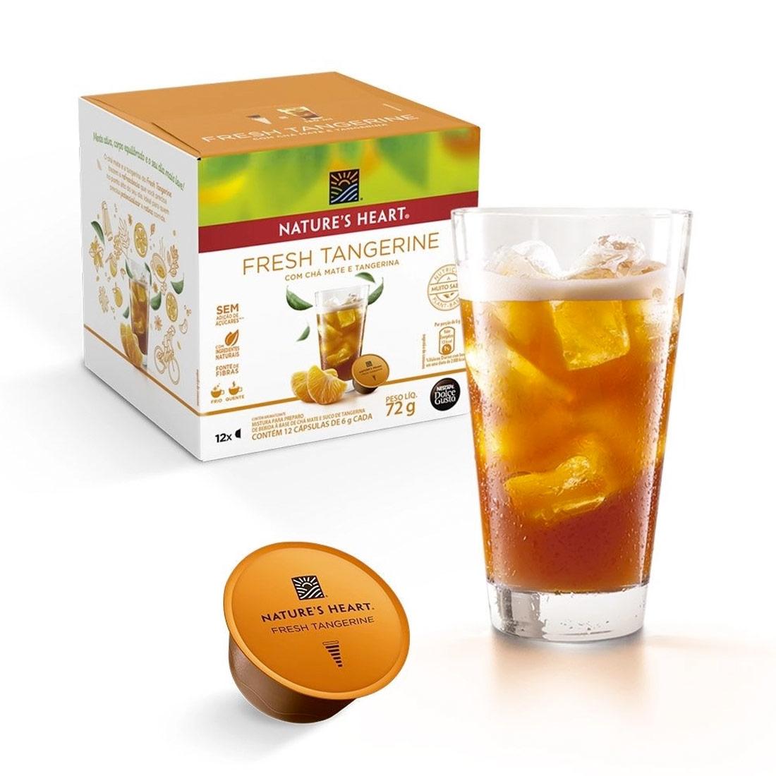 Cápsulas Dolce Gusto Nature's Heart Fresh Tangerine - 12 un.
