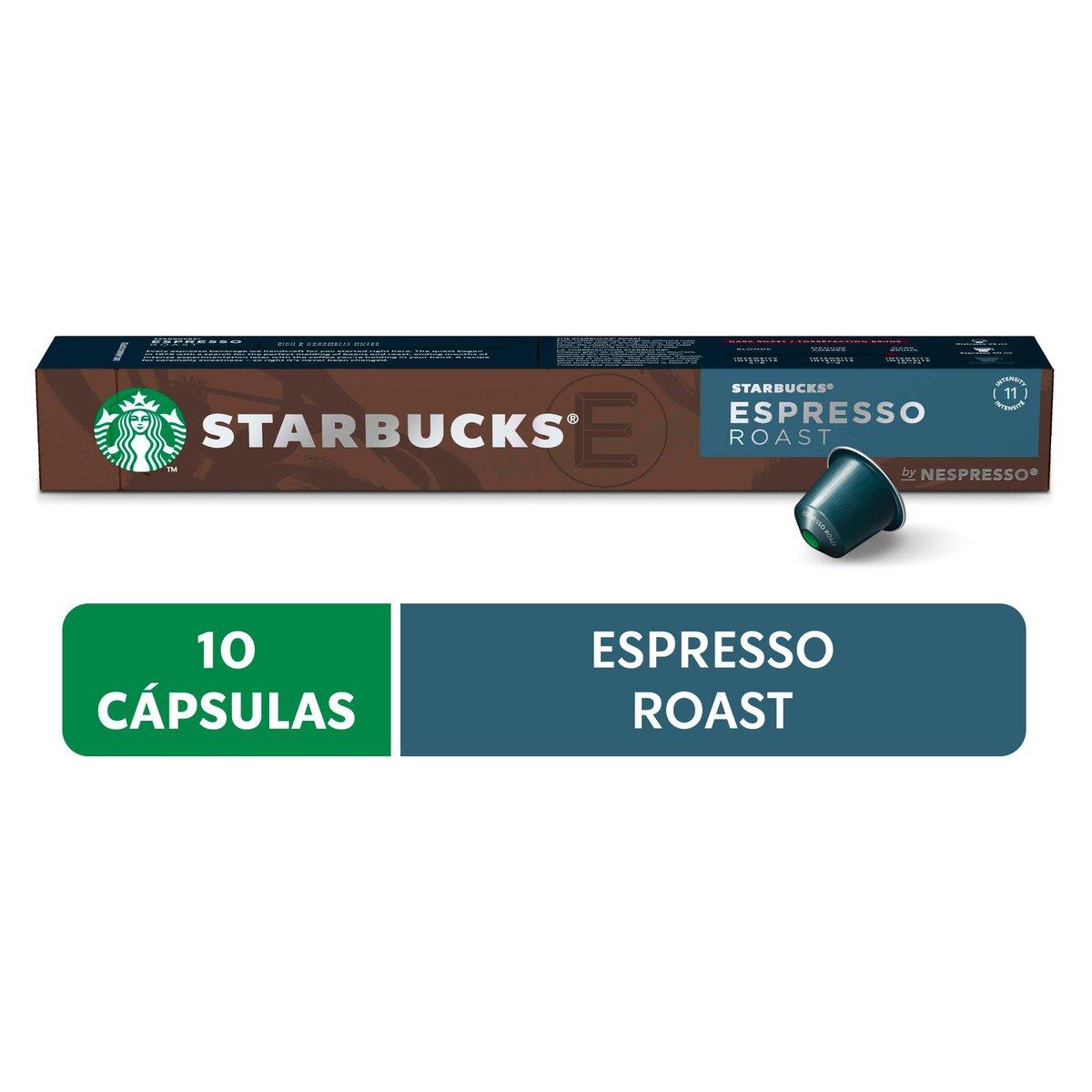 Cápsulas de Café Nespresso® Starbucks Espresso Roast - 10 un.