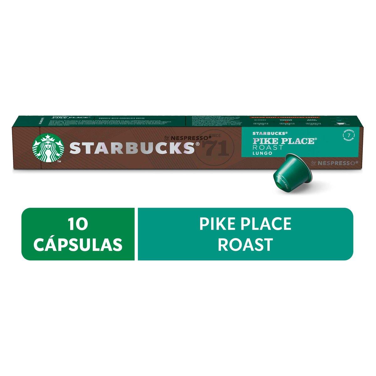Cápsulas de Café Nespresso® Starbucks Pike Place Lungo - 10 un.