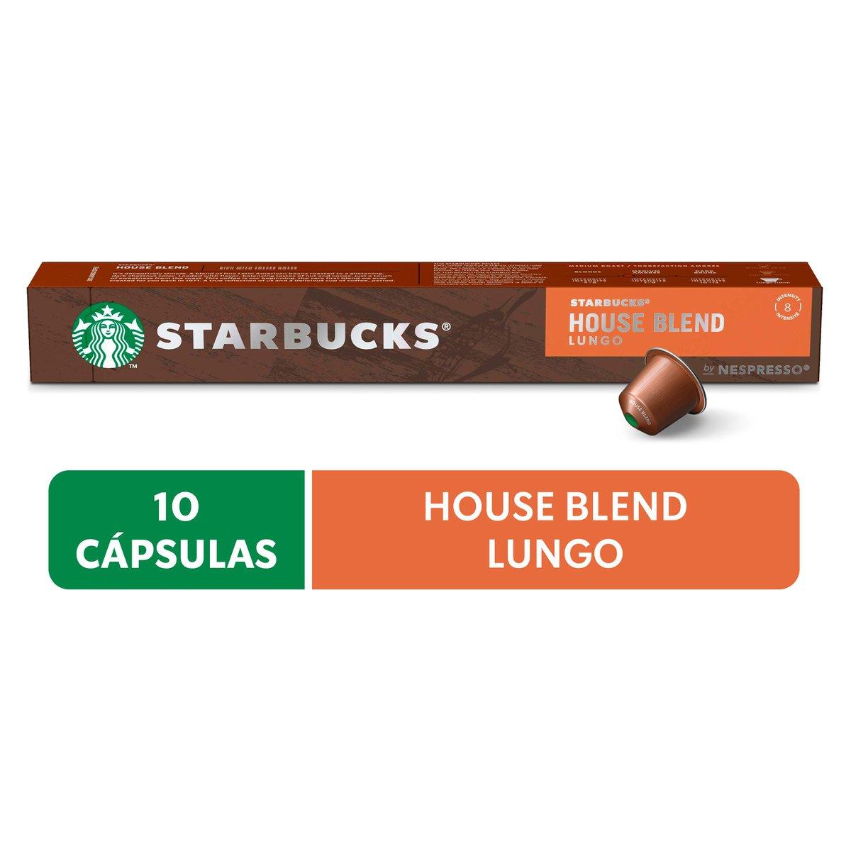Cápsulas de Café Nespresso® Starbucks House Blend Lungo - 10 un.