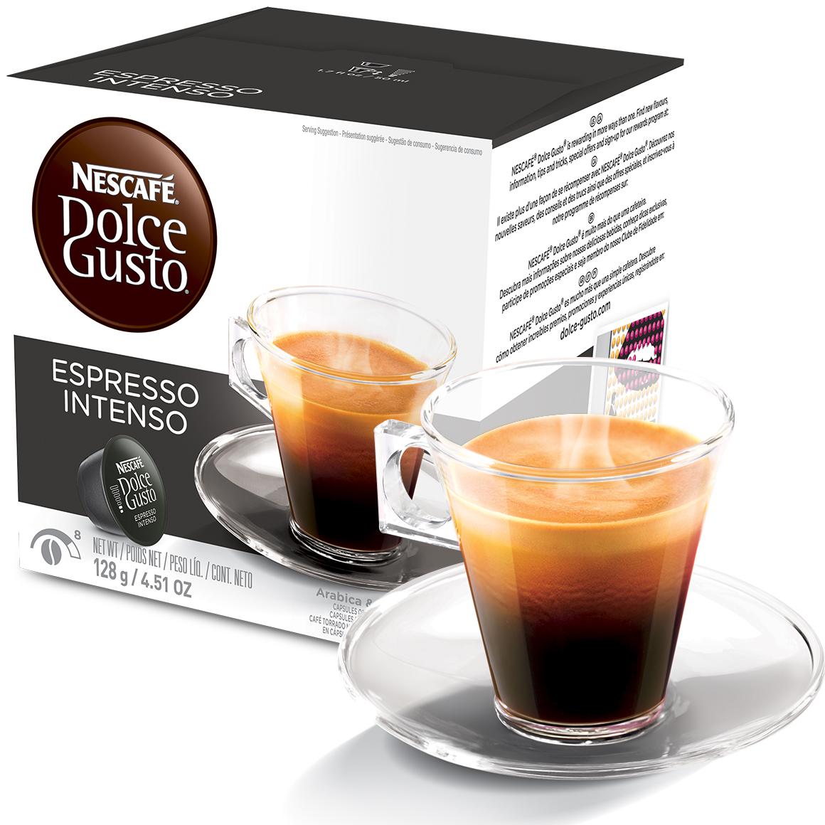 Cápsula Nescafé Dolce Gusto Café Espresso Intenso 16 Cápsulas...