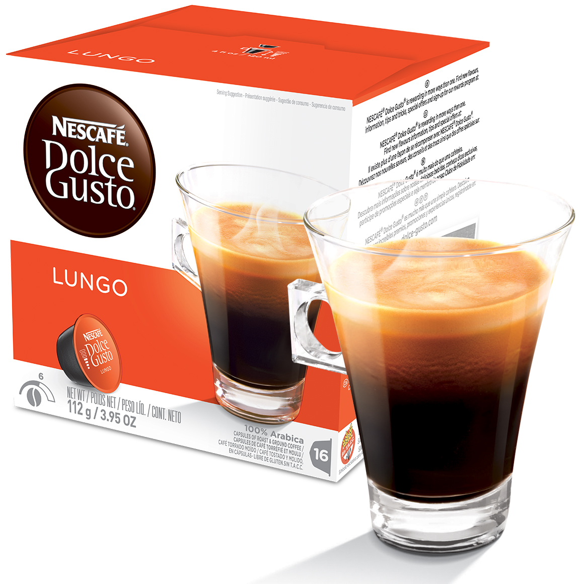 Cápsula Nescafé Dolce Gusto Café Lungo 16 Cápsulas - Nestlé