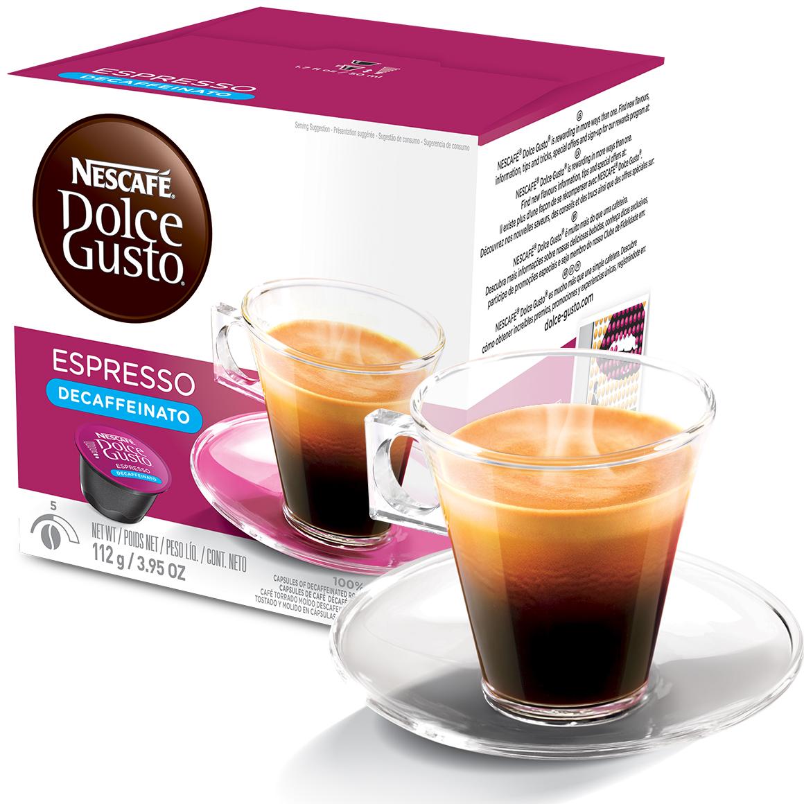 Cápsula Nescafé Dolce Gusto Espresso Descafeinado 16 Cápsulas -...