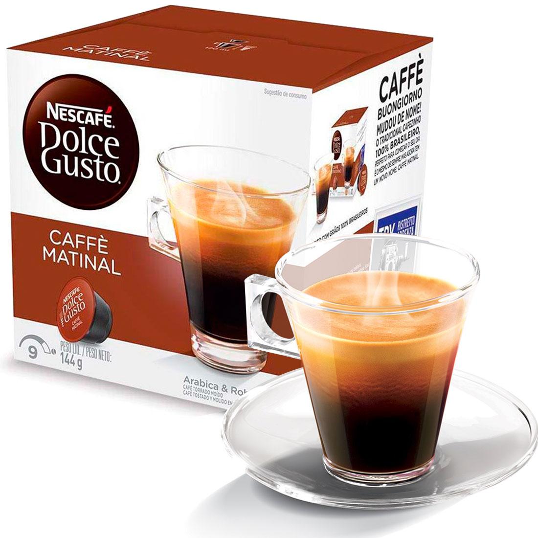 Cápsula Nescafé Dolce Gusto Caffè Matinal 16 Cápsulas - Nestlé