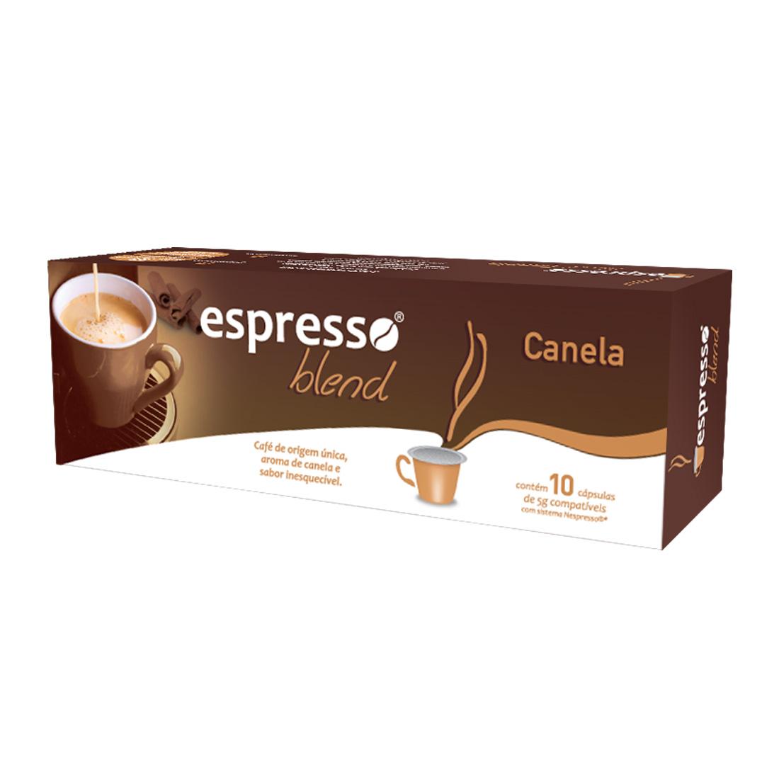 Cápsulas de Café Espresso Blend Canela - Compatíveis com...