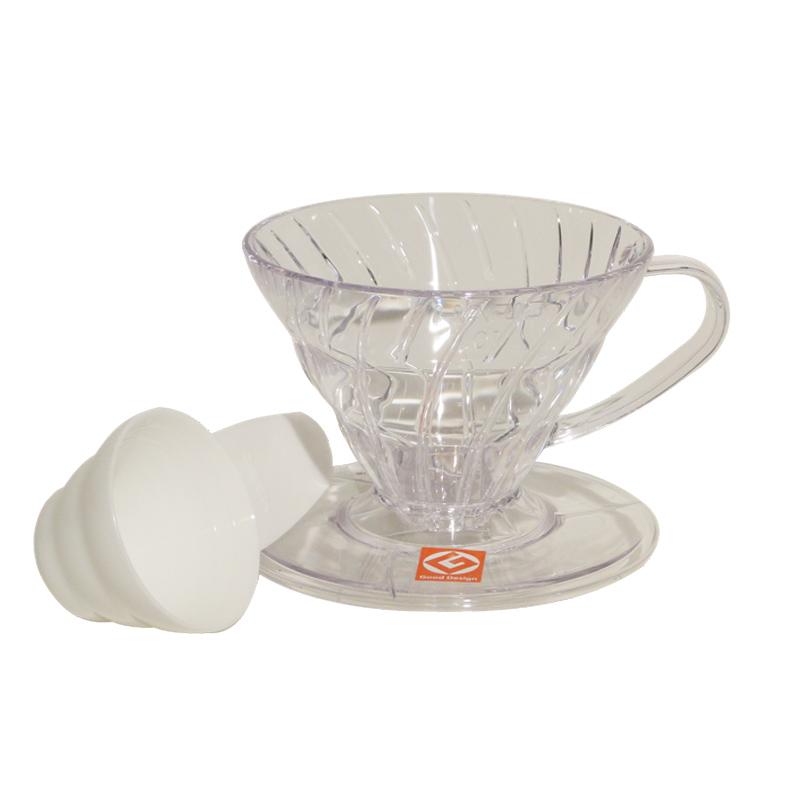 Coador para Café em Acrílico Hario V60 Transparente - Tamanho 01