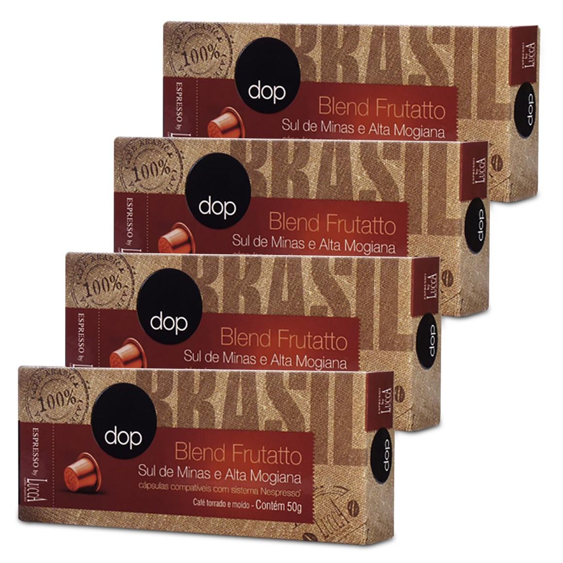 Kit Cápsulas de Café Compatíveis com Nespresso Dop Blend Frutatto 40 un