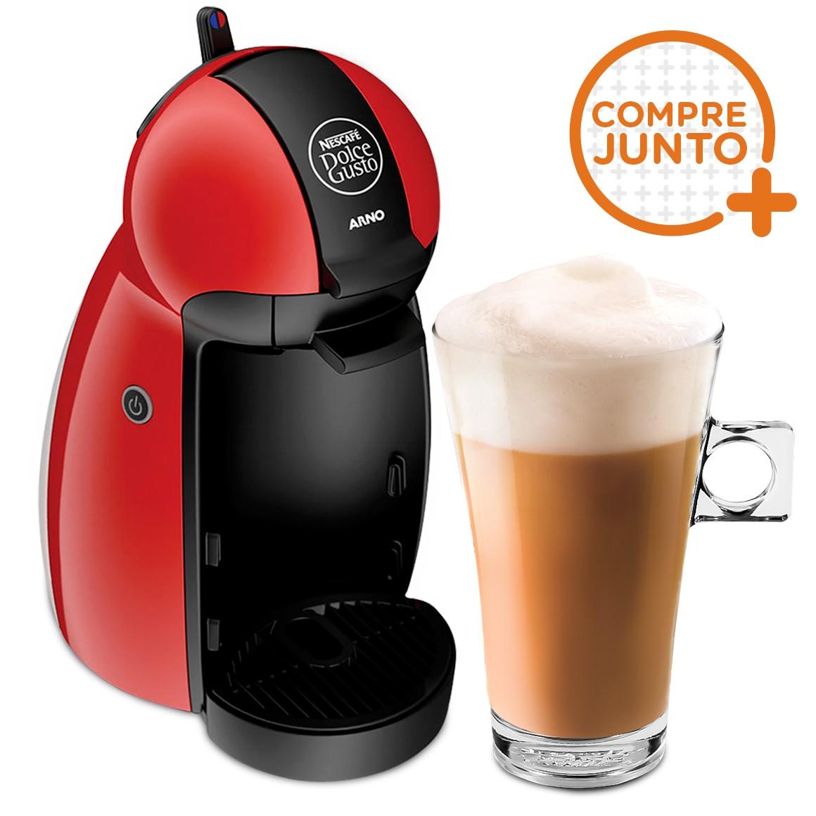 Cafeteira Expresso Dolce Gusto Piccolo Vermelha 220v + 1 Taça de Café Dolce Gusto 268ml