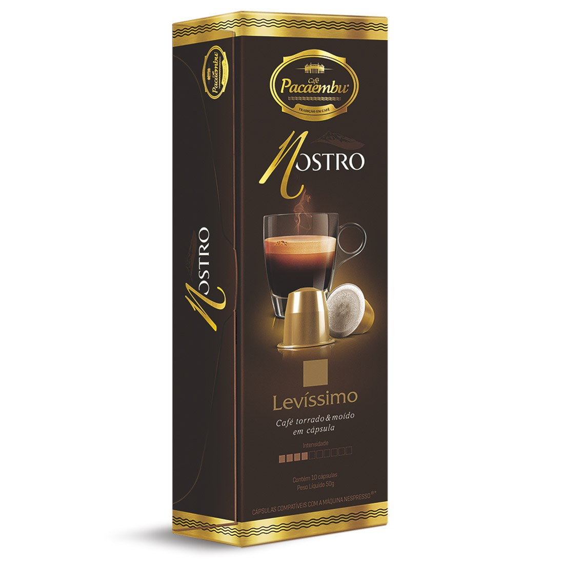 Cápsulas de Café Pacaembu Nostro Levíssimo - Compatíveis com Nespresso® - 10 un.