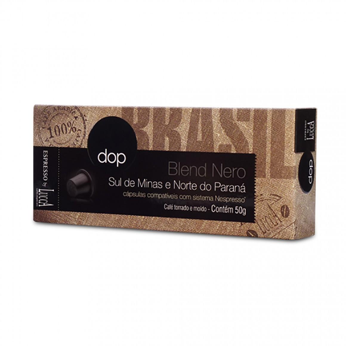 Cápsulas de Café Compatíveis com Nespresso Dop Blend Nero com 10 unidades