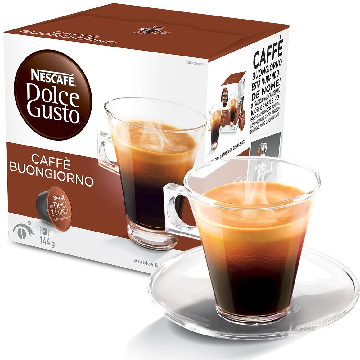 Cápsula Nescafé Dolce Gusto Buongiorno 16 Cápsulas - Nestlé