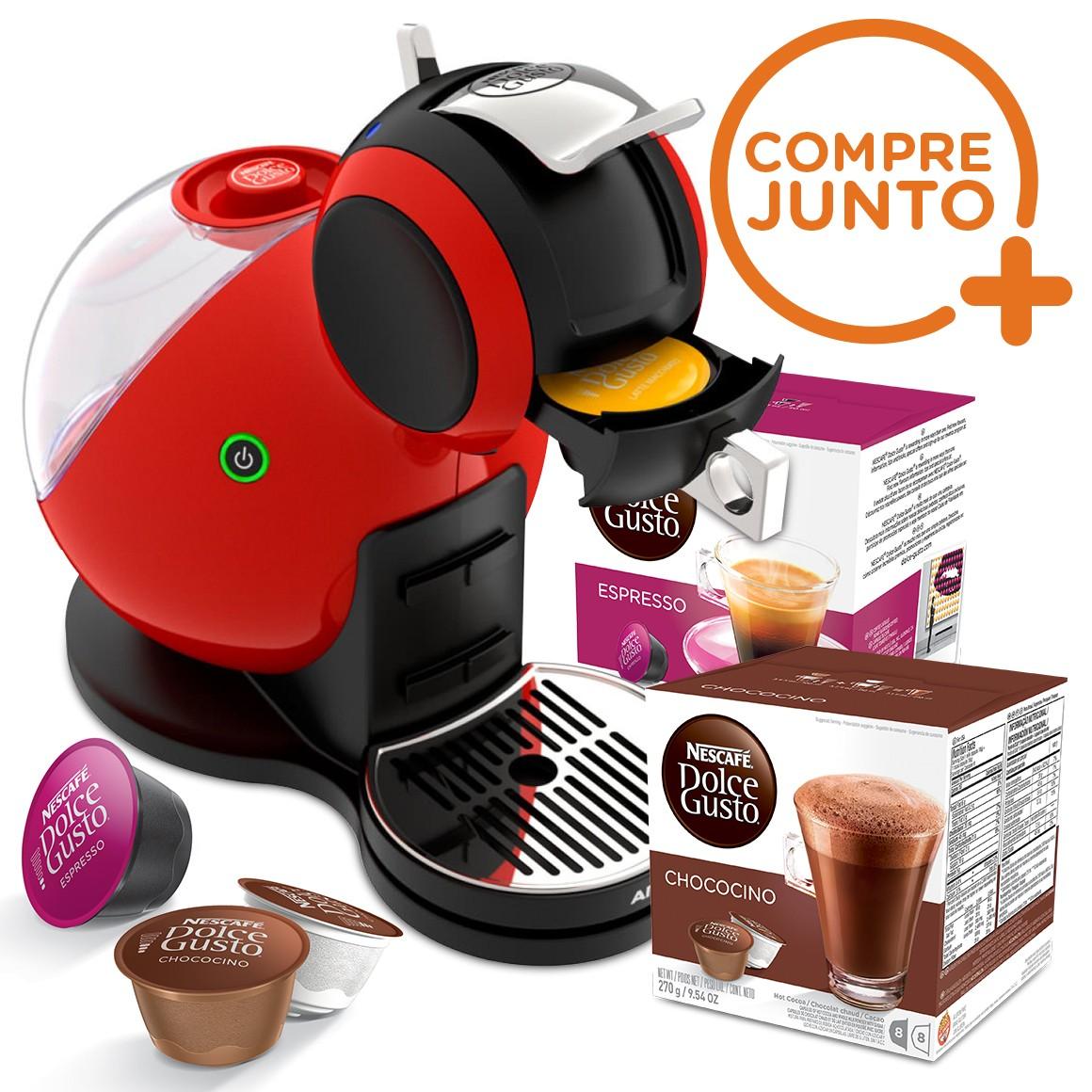 Cafeteira Expresso Dolce Gusto Nescafé Melody Arno Vermelha 220v + 32 Cápsulas