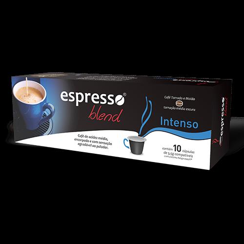 Cápsulas de Café Compatíveis com Nespresso Espresso Blend Intenso